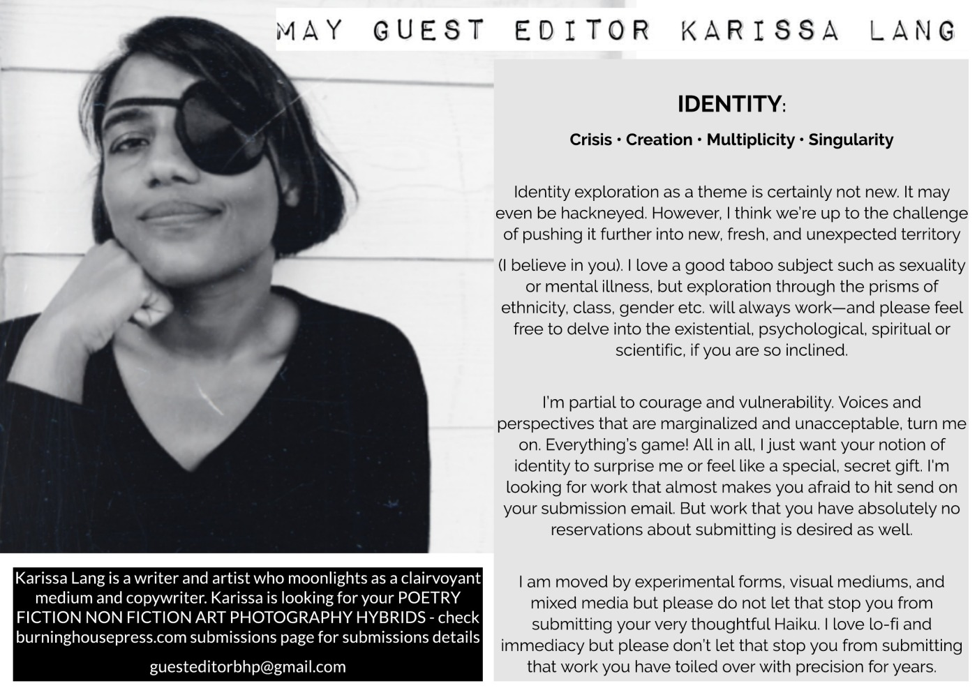 MAY'S GUEST EDITOR FOR BHP ONLINE IS KARISSA LANG