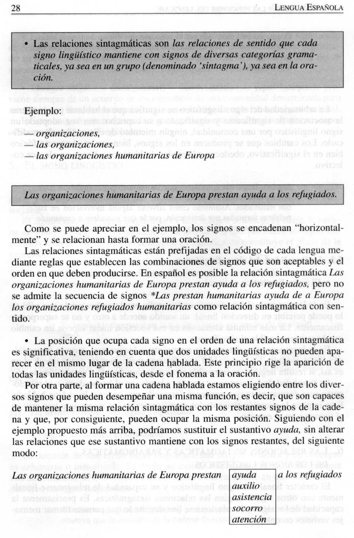 Página 28 de la Gramática General Española (1)
